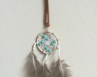 ivory/turquoise dreamcatcher