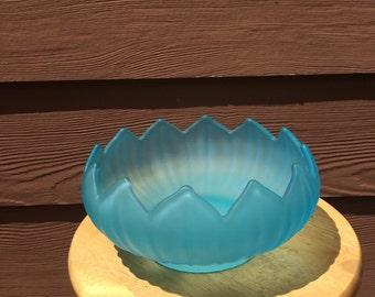 Lotus style glass bowl