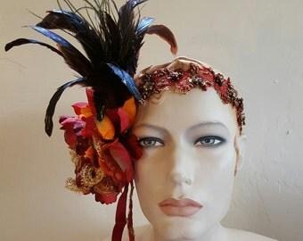 Gatsby Harvest Goddess Flapper Headband Headpiece Wedding Bridal Party Costume Club