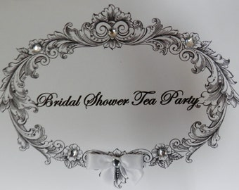 Bridal  Shower Tea Party Invitation