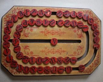 Antique, Hardwood, Universal Spelling Board, Circa Late 1800s