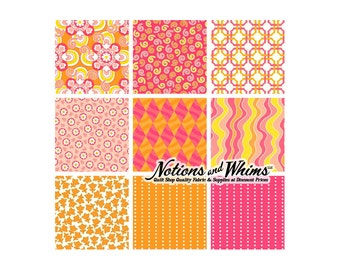 ADDITIONAL 25 PERCENT OFF 9 Yard Bundle of Marcus Fabrics Savvy Swirls Pinks by Faye Burgos for Studio 37