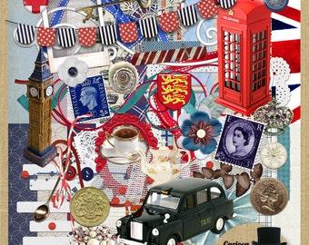 England Mega  Digital Scrapbook Kit