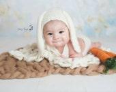Sitter Bunny Bonnet, Luxury knit Baby Bunny Bonnet, Floppy Ear Bunny Bonnet, Easter Photoprop, Newborn photoprop, Girl Bonnet, Boy Bonnet