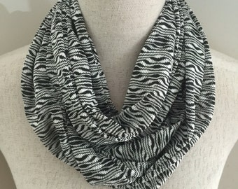 "Womens Black and White Scarf. This Design is Called the ""Eleni"""