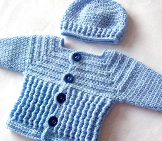 Free Crochet Patterns Baby Boy Sweater Pakbit For