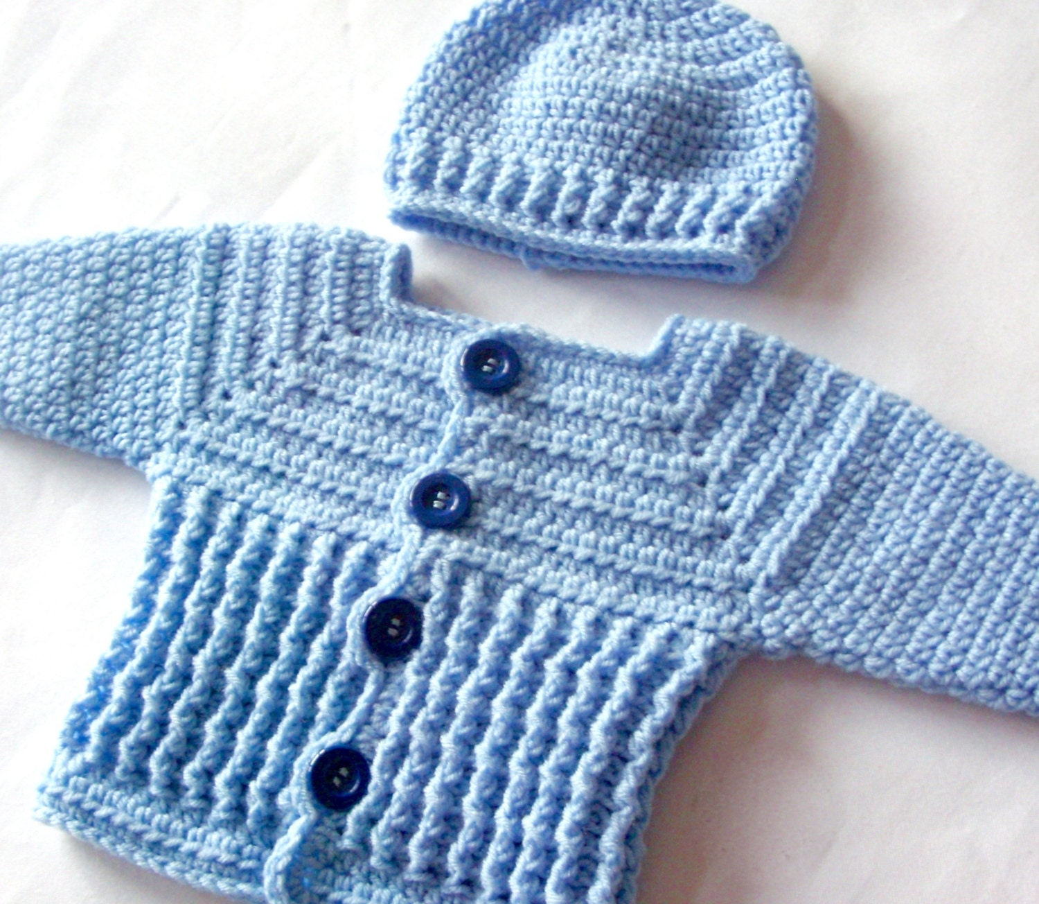 Baby boy sweater set crochet pattern crochet baby sweater and hat this is a digital file bankloansurffo Choice Image