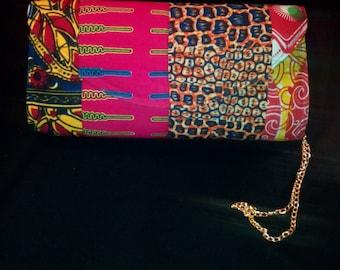 African patchwork clutch-P8