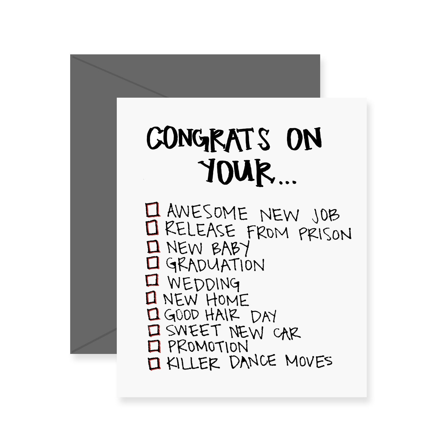Congrats On Your New Job Quotes: Congrats On Your... Checklist Greeting Card Congrats Card