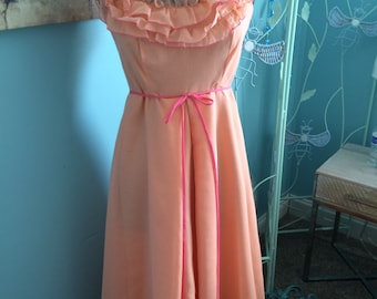 House of Bianchi 1970s formal maxi dress