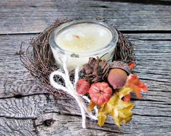 Fall Candle Ring, Autumn Twig Candle Ring, Wedding Candle Ring, Fall Autumn Wedding Centerpiece, Country Rustic Wedding Decor Decoration