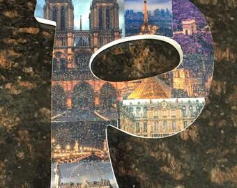 Paris themed letter collage