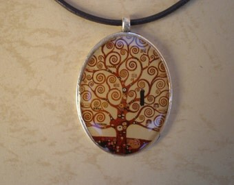 Tree of life - Klimt art pendant - Gustav Klimt - Gustav Klimt art - Pendant art - Resin Jewelry