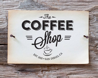Custom Logo Design - Vintage Logo Design - Coffee House logo
