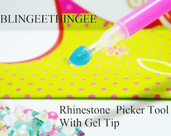SALE Rhinestone Picker Tool and Gel DIY Nail Art Deco Bling Craft Supplies