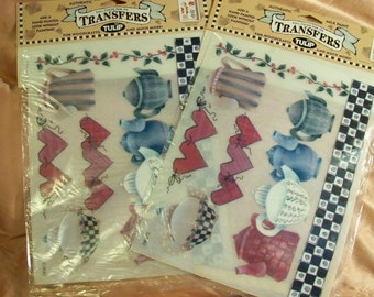 Rub-On Transfers - Teapots - By Tulip -Set Of 2