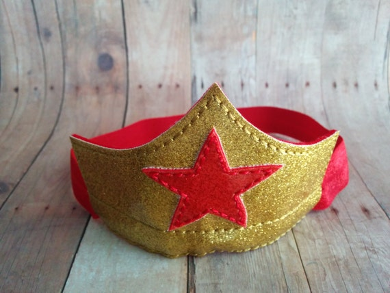 Mini Superhero Headband Tiara Embroidered by ShopOrangeBlossoms