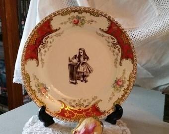 Vintage style Alice in Wonderland plate