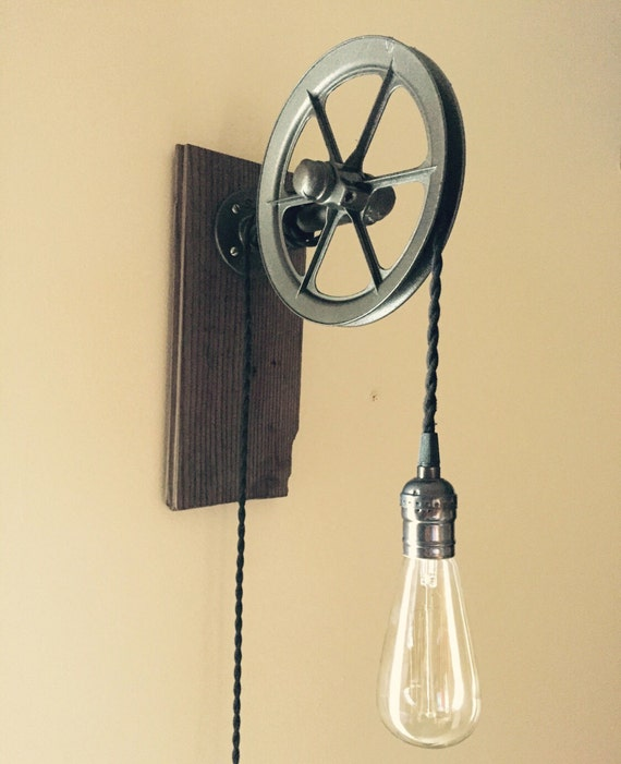 Vintage Style Industrial Lighting Pulley Light Industrial