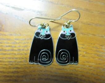 Laurel Burch Olivia Cat Earrings