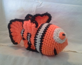 Crocheted Clown fish toy