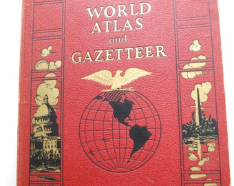 Vintage Book, Collier's World Atlas and Gazetteer
