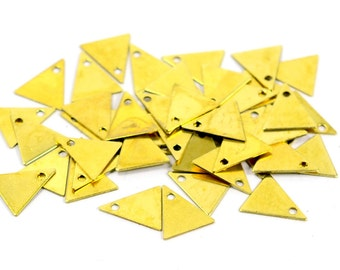 500 Pcs. Raw Brass 9x10 mm  Small Triangle  Stamping Blanks Findings