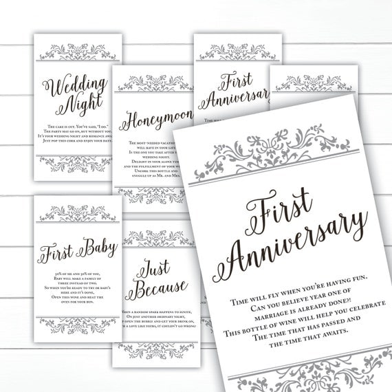 Bridal Shower Wine Poem The 6 Firsts | just b.CAUSE