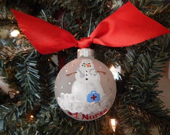 Number One Nurse Ornament- RN-Personalized-Medical