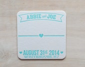 Custom Listing for Theresa - Letterpress Table Assignment Coasters