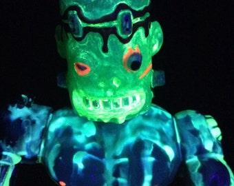 ooak custom funkenstein/ motu mashup figure with black light features