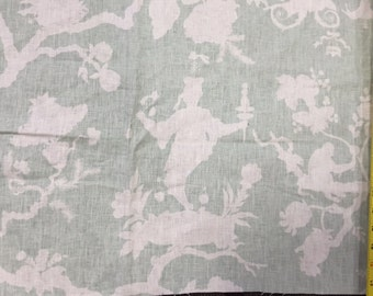 Schumacher Shantung Silhouette Fabric Remnant