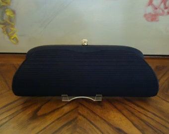 Vintage Extra Long Harry Levine Designer Clutch Handbag 1950s