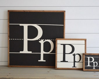 Notebook letters, custom painted wood sign  | Wall decor (Rustic Chic, Modern Farmhouse)