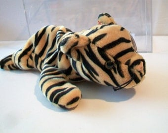 Vintage Ty Beanie Baby Babies STRIPES The Tiger Cat~Rare Hangtag/Tush tag Errors Collectible Toy