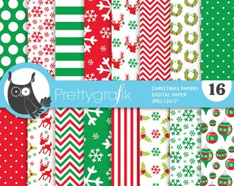 80% 0FF SALE Christmas digital paper, classic christmas papers commercial use, scrapbook papers, scrapbooking papers - PS770