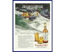 """CANADIAN CLUB Original 1981 Vintage Color Print Ad - """"Follow America's roughest trail to the world's smoothest whisky, Canadian Club."""""""