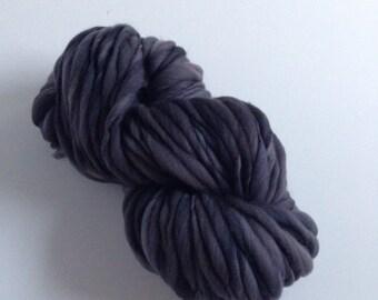 Handspun Thick and Thin Merino Yarn - 50 yds Gargoyle