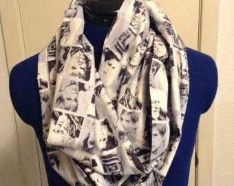 White Star Wars Characters Infinity Scarf