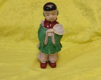 Occupied Japan Oriental Man with Fan