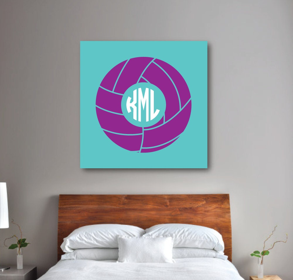 Volleyball Wall Art Girl 39 S Bedroom Decor Volleyball