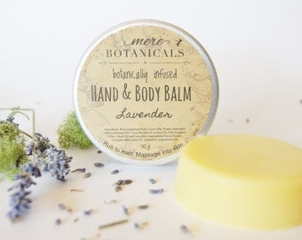 Lavender Hand & Body Balm - Solid Lotion Bar - Shea Butter Body Balm / Massage Bar / Travel Lotion  / Hand Butter