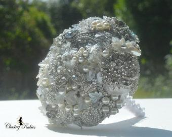 Crystal Bouquet, Brooch Bouquet, Jewellery Bouquet. Vintage wedding, art deco wedding