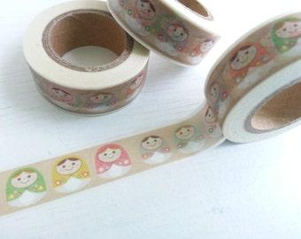 Russia Doll Masking Tape - 15 mm x 10 M