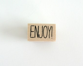 ENJOY! Stamp | Enjoy Wood Mounted Rubber Stamp | Enjoy Rubber Stamp | Card Making | Scrapbooking Supplies