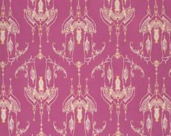 Tina Givens Feather Flock 'Bird Castle' in Fuscia Cotton Fabric