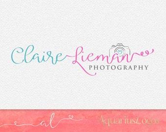 Photography Logo - Camera Logo Design - Watermark logo - DIY psd Photoshop template Premade logo design.