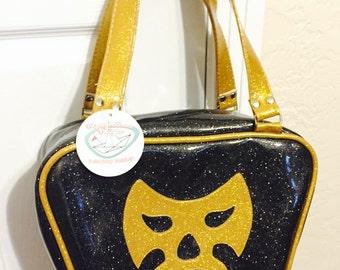 Gold Bowling handbag - luchador