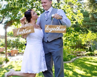 Wedding Engraved Wood Sign Photo Op