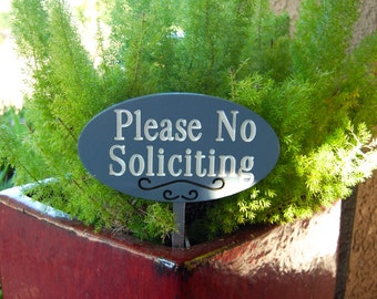 Wood Plaque Please No Soliciting Garden Sign Outdoor Decor Wood Engraved Home Decor